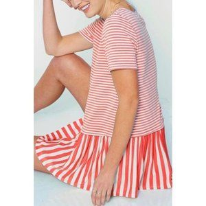 SALE!! Coral Pink Stripe Top - Size M/L
